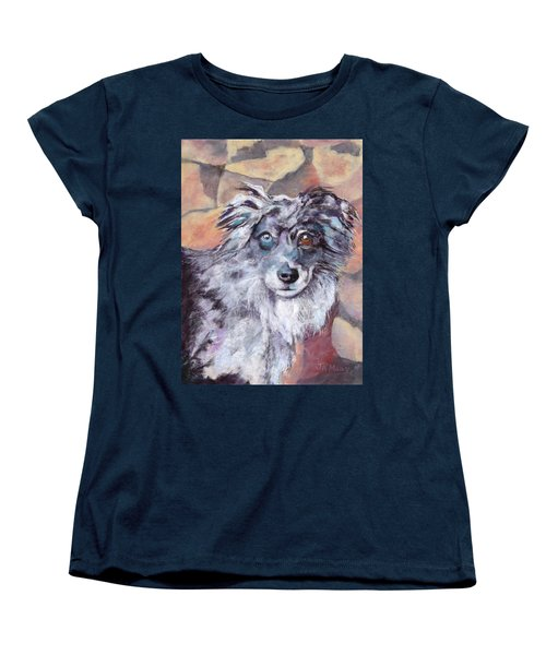 Women's T-Shirt (Standard Cut) featuring the painting Riley by Julie Maas
