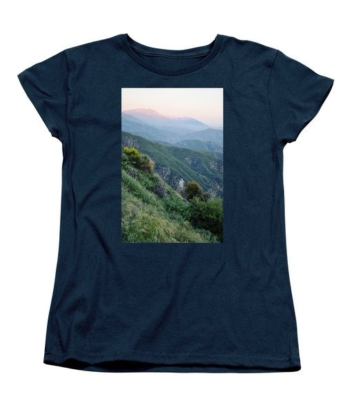 Women's T-Shirt (Standard Cut) featuring the photograph Rim O' The World National Scenic Byway II by Kyle Hanson
