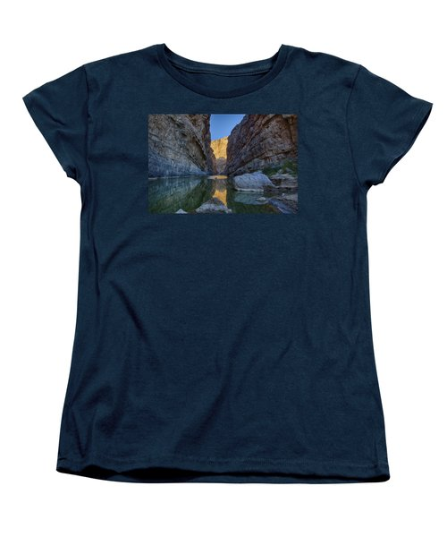 Women's T-Shirt (Standard Cut) featuring the tapestry - textile Rio Grand - Big Bend by Kathy Adams Clark