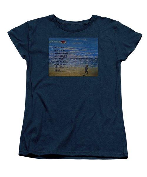 Rise Against The Wind Women's T-Shirt (Standard Cut) by Ian  MacDonald