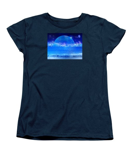Women's T-Shirt (Standard Cut) featuring the digital art Rise by Bernd Hau