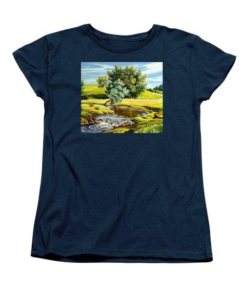 River Of Life Women's T-Shirt (Standard Cut) by Karen Showell