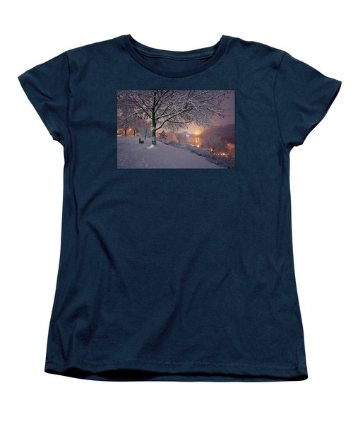 Women's T-Shirt (Standard Cut) featuring the photograph River Road  by Emmanuel Panagiotakis