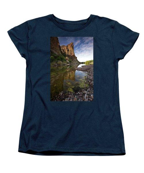 River Serenity Women's T-Shirt (Standard Cut) by Sue Cullumber