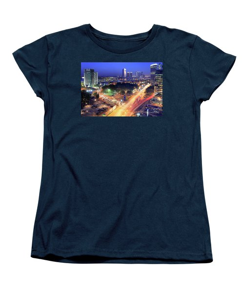 Women's T-Shirt (Standard Cut) featuring the photograph Rivers Of Light by Bernardo Galmarini