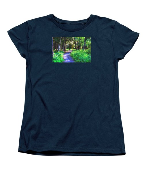 Road Less Traveled Women's T-Shirt (Standard Cut) by Susan Crossman Buscho