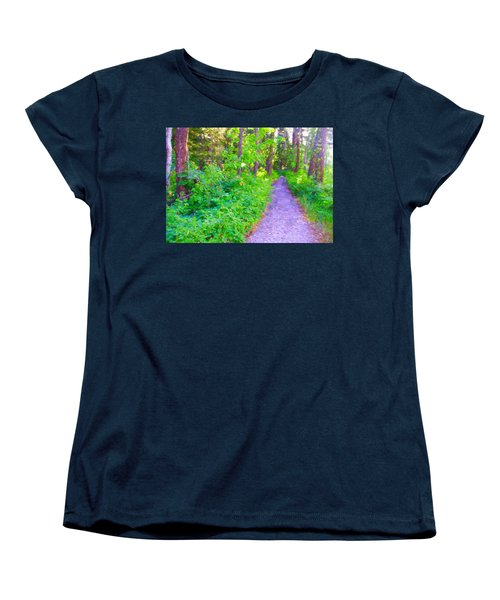 Road More Traveled Women's T-Shirt (Standard Cut) by Susan Crossman Buscho