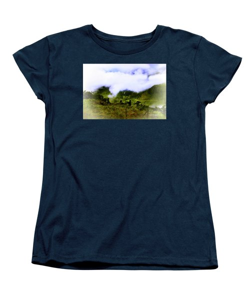 Women's T-Shirt (Standard Cut) featuring the photograph Road Through The Andes by Al Bourassa