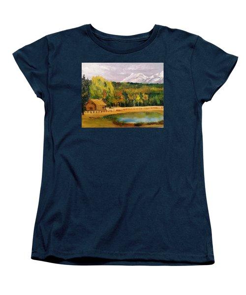 Road To Kintla Lake Women's T-Shirt (Standard Cut) by Larry Hamilton