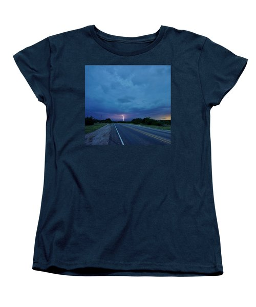 Lightning Over Sonora Women's T-Shirt (Standard Cut) by Ed Sweeney