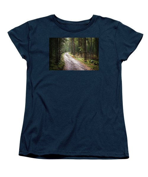 Road To The Light Women's T-Shirt (Standard Cut) by Teemu Tretjakov