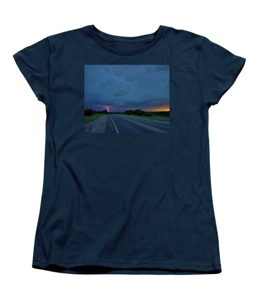 Road To The Storm Women's T-Shirt (Standard Cut) by Ed Sweeney