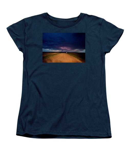 Road Under The Storm Women's T-Shirt (Standard Cut) by Ed Sweeney