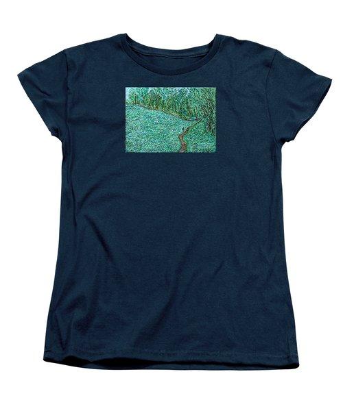 Roadside Green Women's T-Shirt (Standard Cut) by Anna Yurasovsky