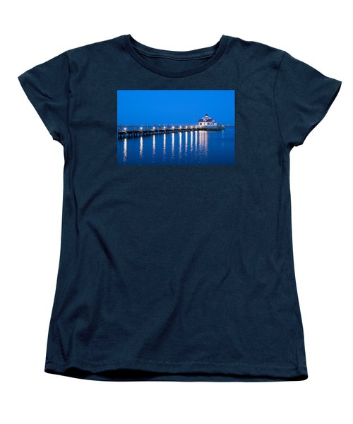 Roanoke Marshes Lighthouse Revisited Women's T-Shirt (Standard Cut) by Marion Johnson