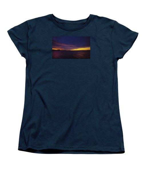 Roatan Sunset Women's T-Shirt (Standard Cut) by Stephen Anderson