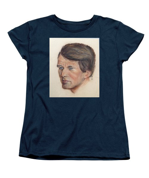 Women's T-Shirt (Standard Cut) featuring the painting Robert Kennedy by Anthony Ross