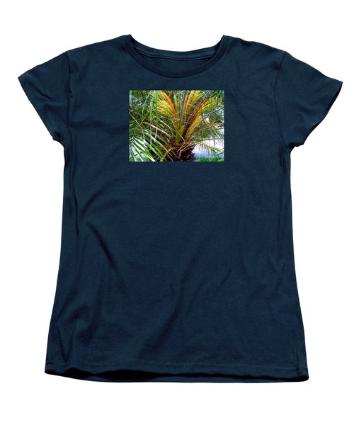 Robillini Palm In Bloom Women's T-Shirt (Standard Cut) by Merton Allen