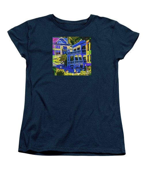 Women's T-Shirt (Standard Cut) featuring the digital art Roche Harbor Street Scene by Kirt Tisdale