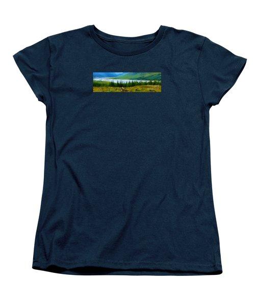 Rock Cairns In Scotland Women's T-Shirt (Standard Cut) by Judi Bagwell
