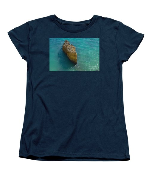 Rock Formation And The Sea In Algarve Women's T-Shirt (Standard Cut) by Angelo DeVal
