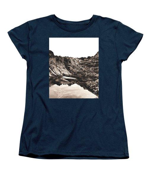 Rock - Sepia Detail Women's T-Shirt (Standard Cut) by Rebecca Harman