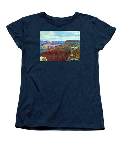 Women's T-Shirt (Standard Cut) featuring the photograph Rock Solid by Roberta Byram