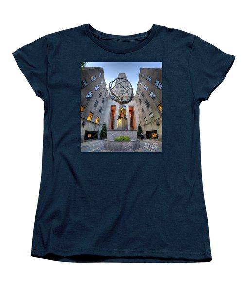 Rockefeller Centre Atlas - Nyc - Vertorama Women's T-Shirt (Standard Cut) by Yhun Suarez