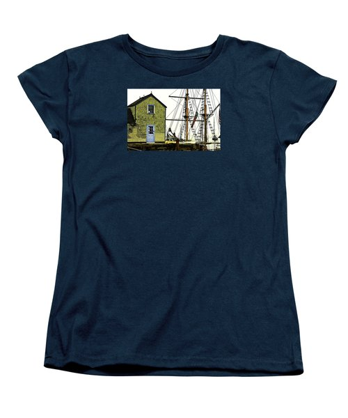 Women's T-Shirt (Standard Cut) featuring the photograph Rockport Harbor by Tom Cameron