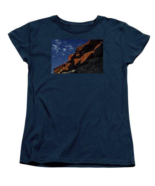 Sky And Rocks Women's T-Shirt (Standard Cut) by Alex Galkin