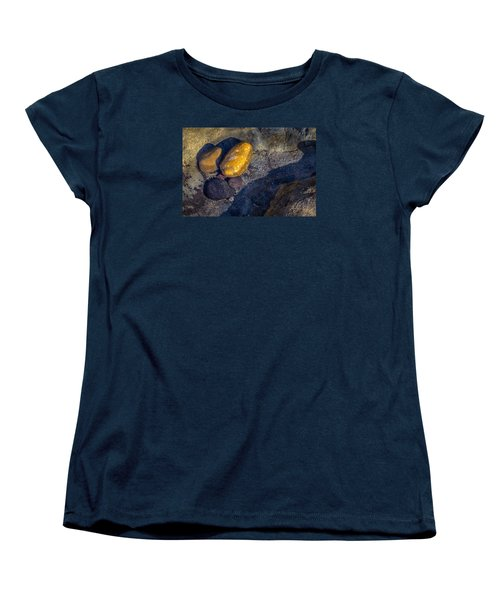 Women's T-Shirt (Standard Cut) featuring the photograph Rocks In Tidepool by Randy Bayne