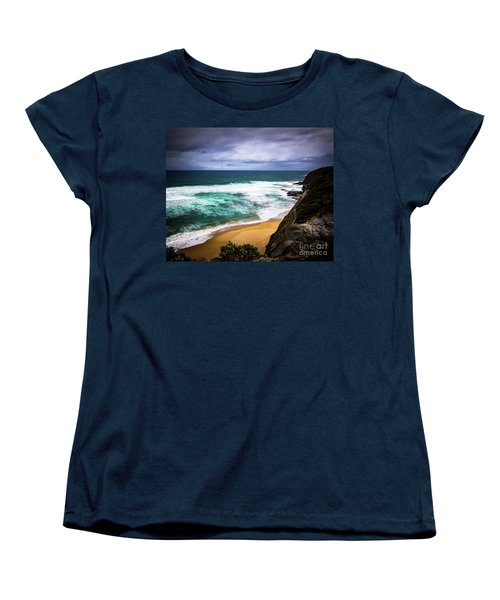 Women's T-Shirt (Standard Cut) featuring the photograph Rocky Coast by Perry Webster