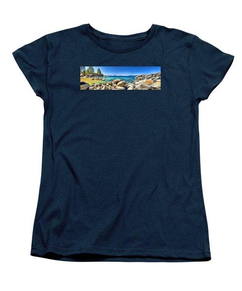 Rocky Cove Sand Harbor Women's T-Shirt (Standard Cut) by Jason Abando