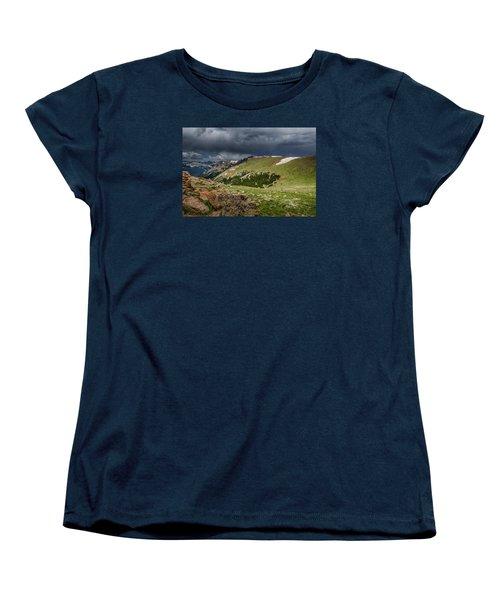 Rocky Mountain Strorm Women's T-Shirt (Standard Cut) by Mary Angelini