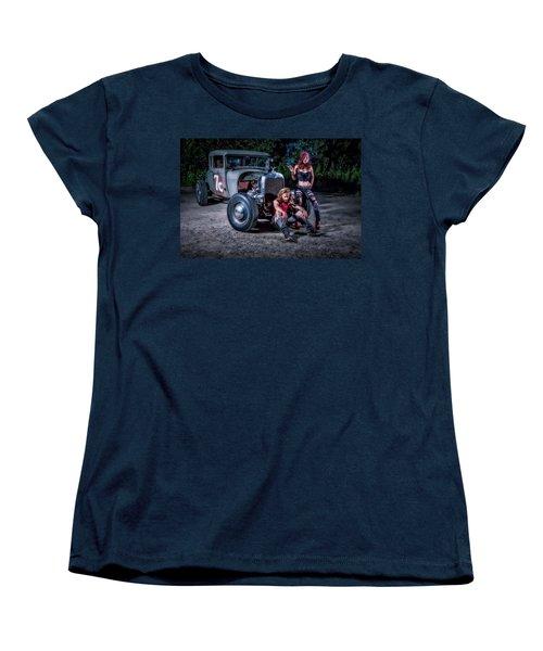 Rodders #2 Women's T-Shirt (Standard Cut) by Jerry Golab