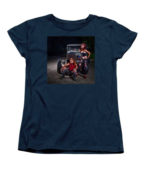 Rodders Women's T-Shirt (Standard Cut) by Jerry Golab