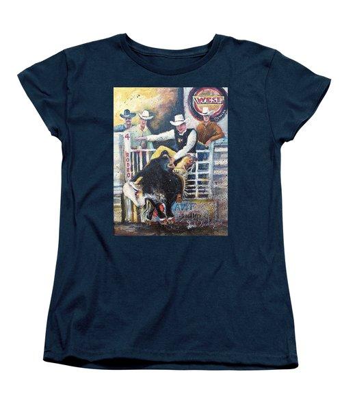 Rodeo Ride Women's T-Shirt (Standard Cut) by Linda Shackelford