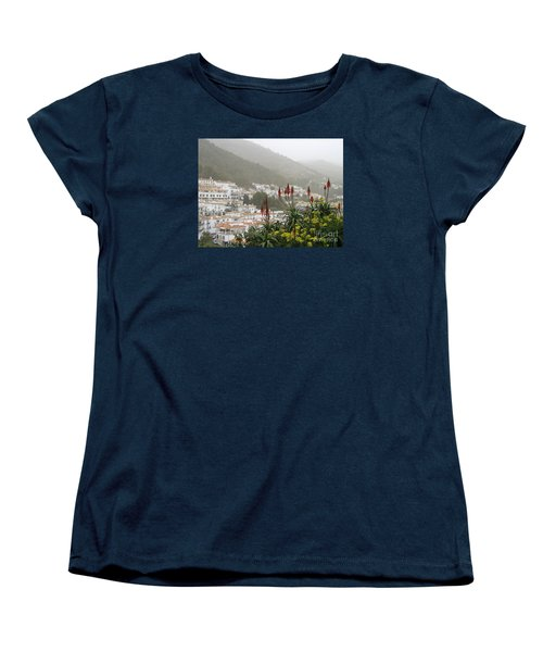 Women's T-Shirt (Standard Cut) featuring the photograph Rojo In The Pueblos Blancos by Suzanne Oesterling