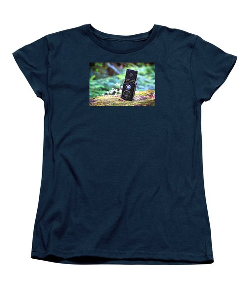 Women's T-Shirt (Standard Cut) featuring the photograph Rolleicord 2 by Keith Hawley
