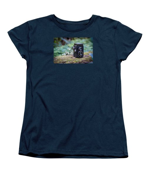 Women's T-Shirt (Standard Cut) featuring the photograph Rolleicord Tlr by Keith Hawley