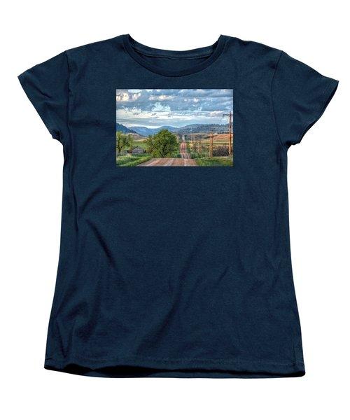 Rollercoaster Country Road Women's T-Shirt (Standard Cut) by Fiskr Larsen