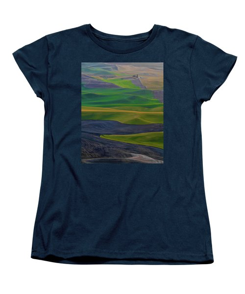 Rolling Fields Of The Palouse Women's T-Shirt (Standard Cut) by James Hammond