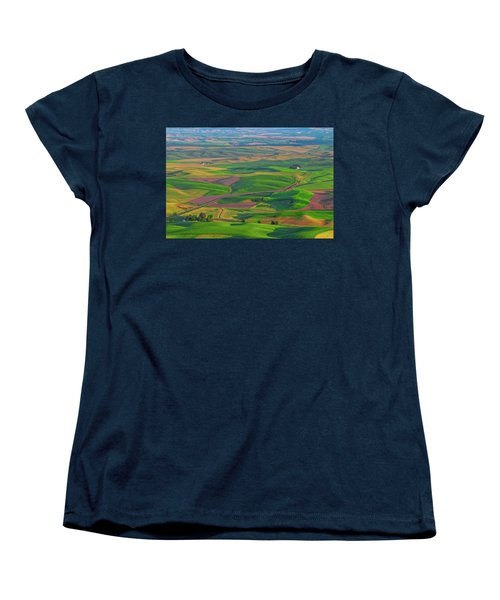 Rolling Green Hills Of The Palouse Women's T-Shirt (Standard Cut) by James Hammond
