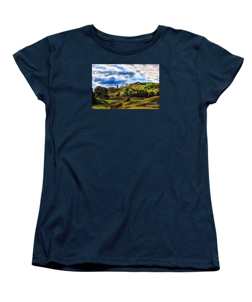 Women's T-Shirt (Standard Cut) featuring the photograph Rolling Hills by Rick Bragan