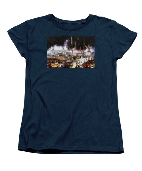 Women's T-Shirt (Standard Cut) featuring the painting Roma Aeterna by Kai Saarto