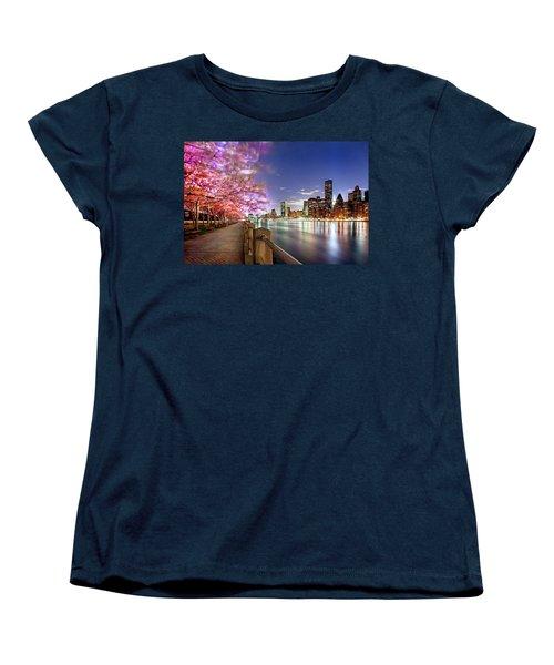 Romantic Blooms Women's T-Shirt (Standard Cut) by Az Jackson