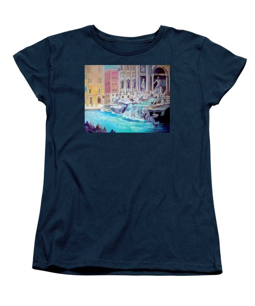 Women's T-Shirt (Standard Cut) featuring the painting Rome  Italy by Paul Weerasekera