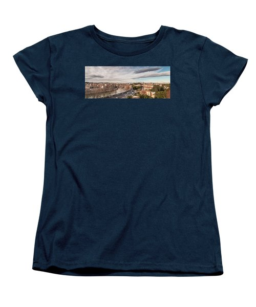 Women's T-Shirt (Standard Cut) featuring the photograph Rome - Panorama  by Sergey Simanovsky