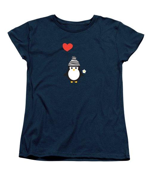 Romeo The Penguin Women's T-Shirt (Standard Cut) by Natalie Kinnear