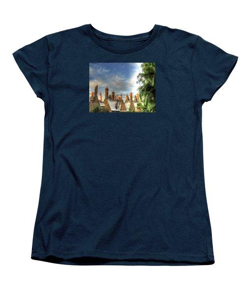 Women's T-Shirt (Standard Cut) featuring the photograph rooftops Hogsmeade by Tom Prendergast